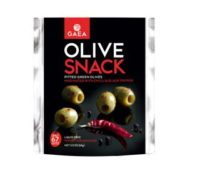 GAEA Pitted Green Olives with Chili and Black Pepper 2.3oz Pack