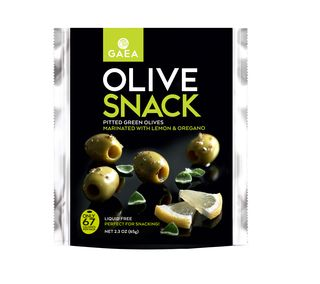GAEA Olive 2.3oz Snack Pack Pitted Green Olives with Lemon and Oregano